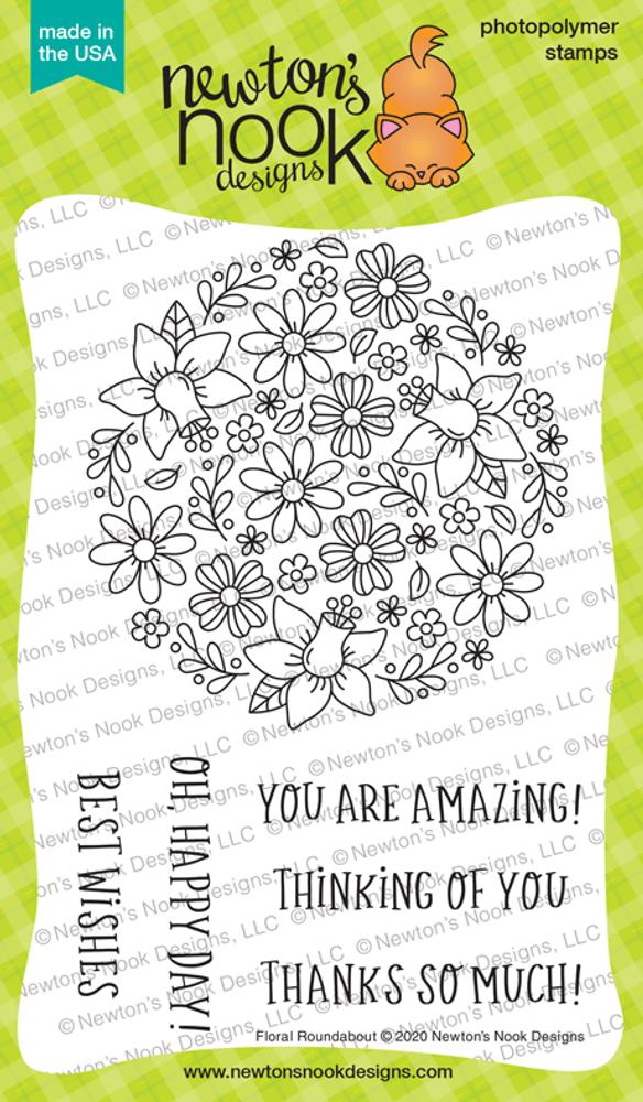 Floral Roundabout Stamp Set ©2020 Newton's Nook Designs