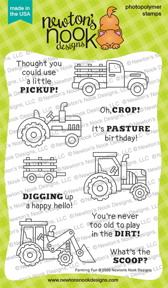 Farming Fun Stamp Set ©2020 Newton's Nook Designs