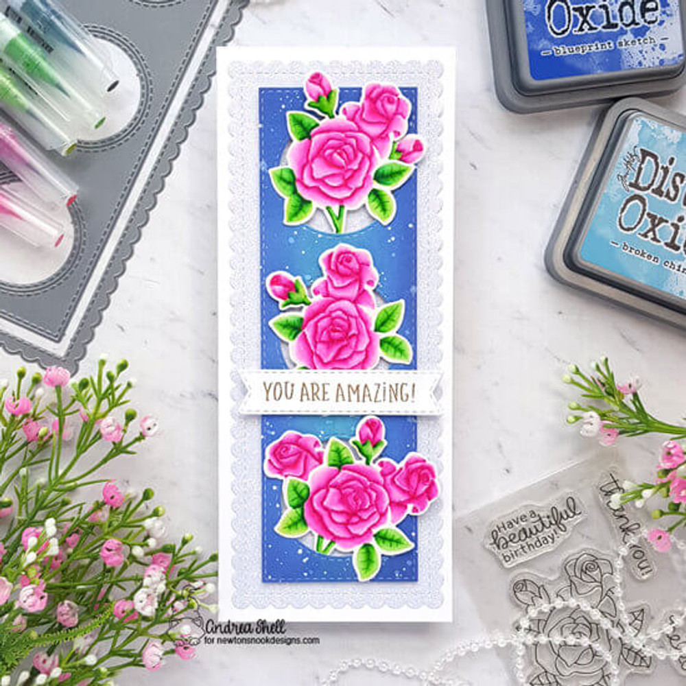 Roses Stamp Set ©2020 Newton's Nook Designs
