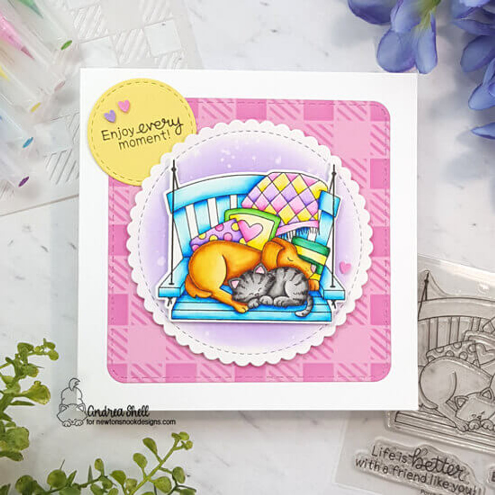 Porch Swing Friends Stamp Set ©2020 Newton's Nook Designs