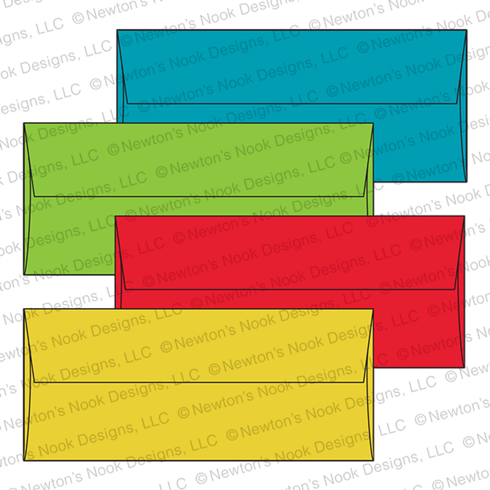 #10 Envelope Assortment - Brights by Newton's Nook Designs
