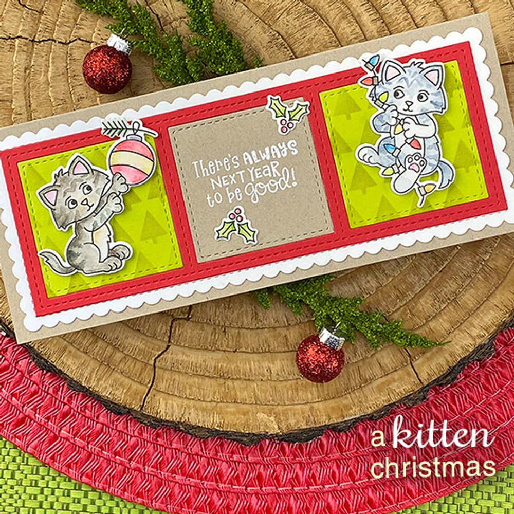 A Kitten Christmas Stamp Set ©2020 Newton's Nook Designs