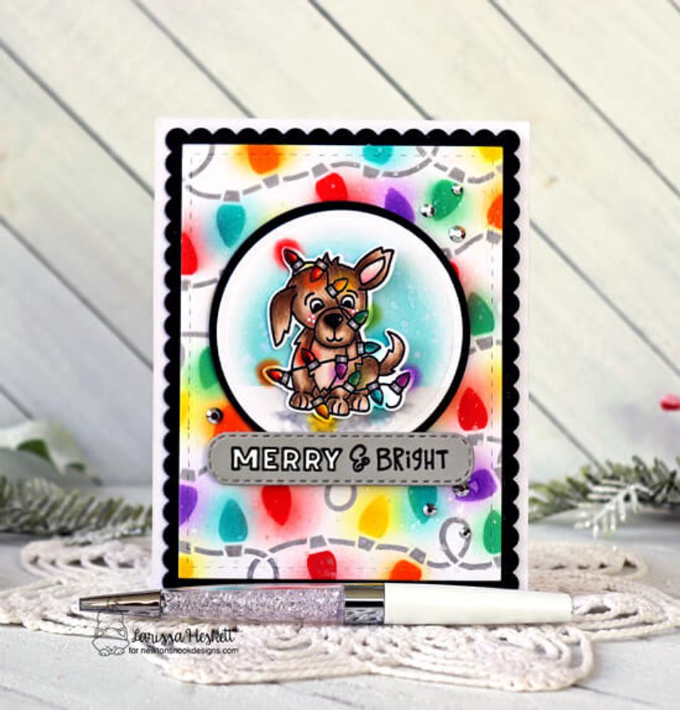 Christmas Puppies Stamp Set ©2020 Newton's Nook Designs