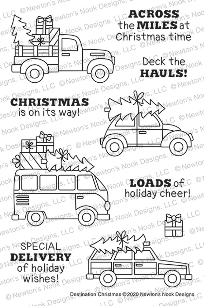 Destination Christmas Stamp Set ©2020 Newton's Nook Designs