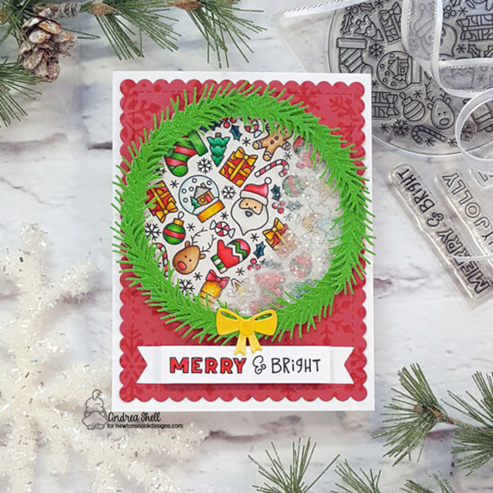 Christmas Roundabout Stamp Set ©2020 Newton's Nook Designs