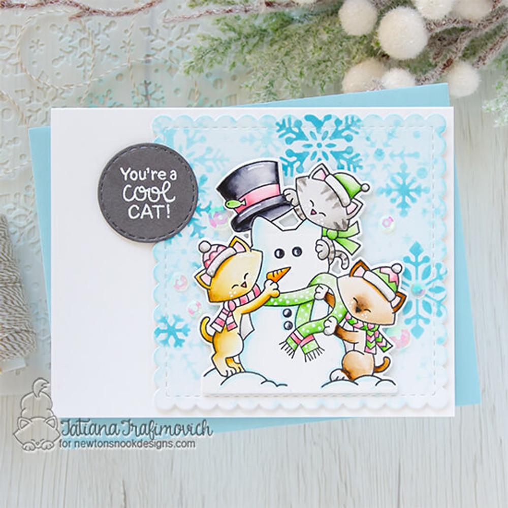Newton's Snowman Stamp Set ©2020 Newton's Nook Designs
