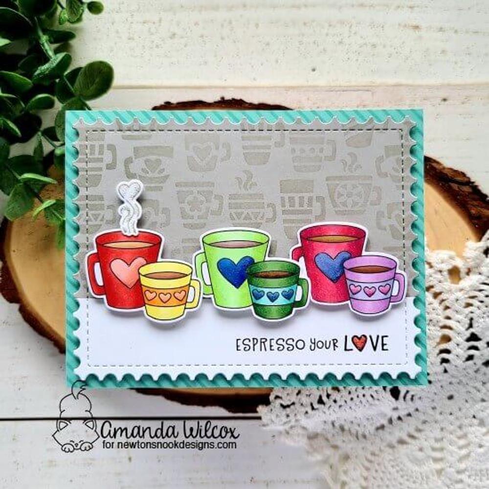 Love Café Stamp Set ©2021 Newton's Nook Designs