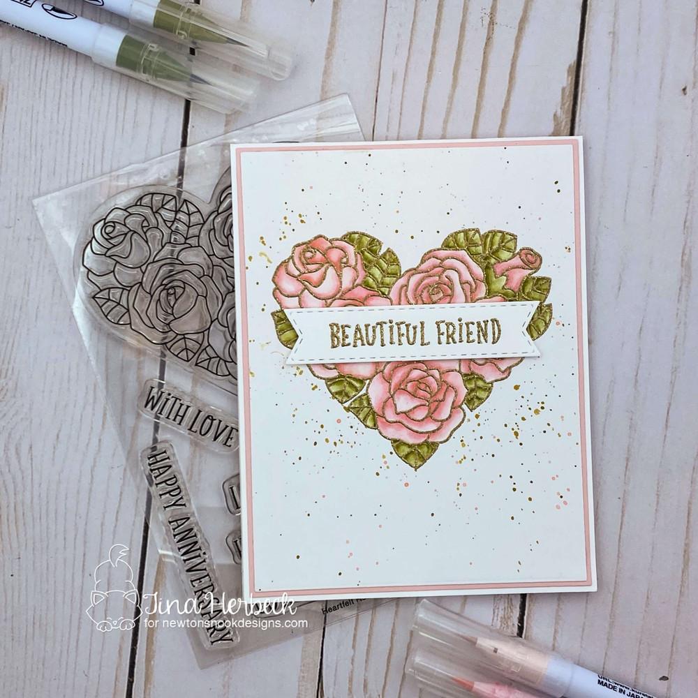 Heartfelt Roses Stamp Set ©2021 Newton's Nook Designs
