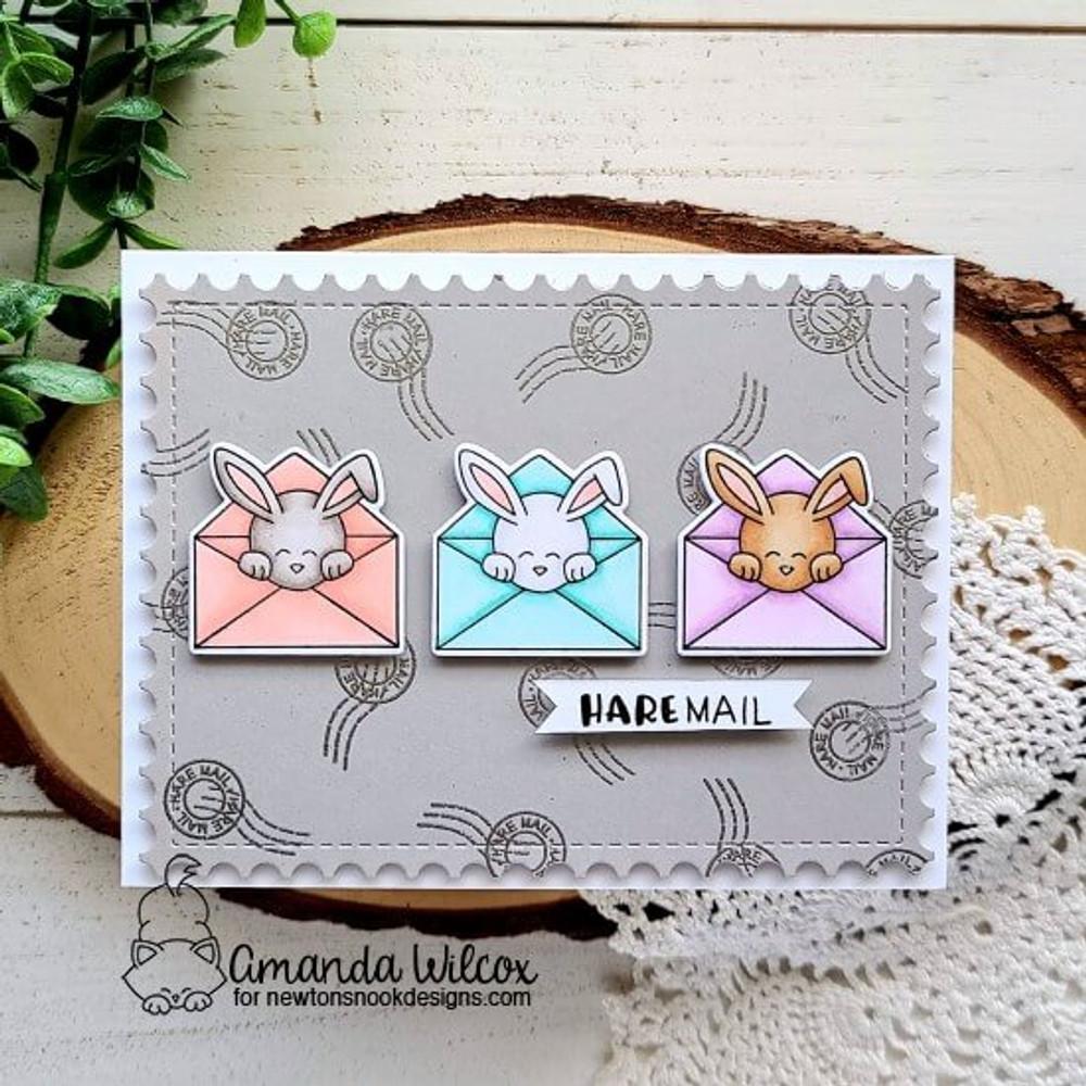Hare Mail Stamp Set ©2021 Newton's Nook Designs