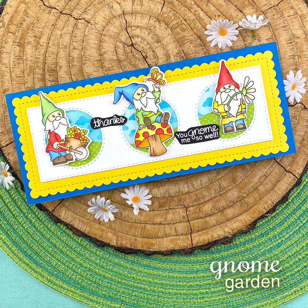 Gnome Garden  Stamp Set ©2021 Newton's Nook Designs