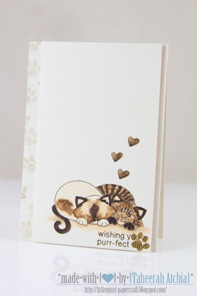 cute kitty couple  | Newton's Antics Stamp set ©2013 Newton's Nook Designs