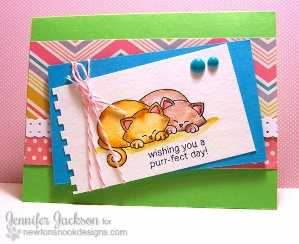 Purrfect Day Cat Couple  | Newton's Antics Stamp set ©2013 Newton's Nook Designs