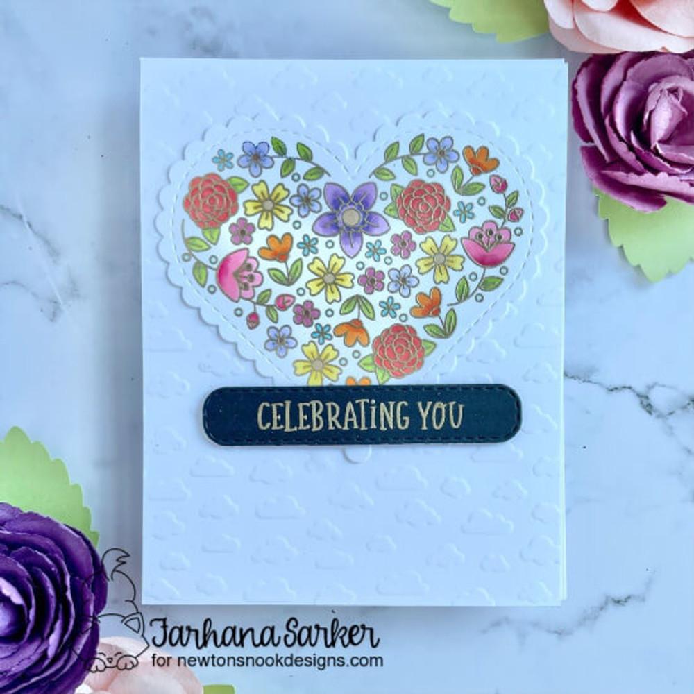 Heartfelt Blooms Stamp Set ©2021 Newton's Nook Designs