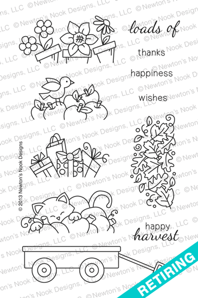 Wagon of Wishes Stamp Set © 2013 Newton's Nook Designs.