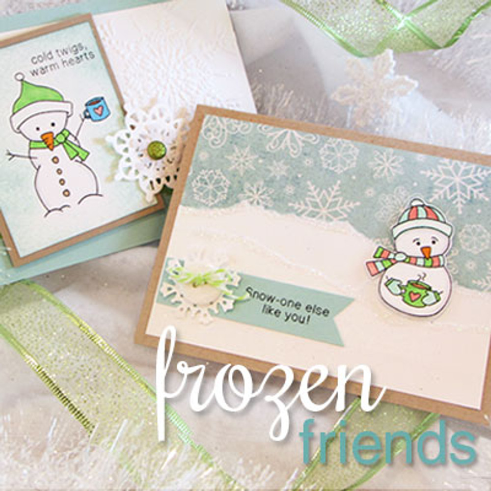 Snowman Card made with Frozen Friends ©2013 Newton's Nook Designs