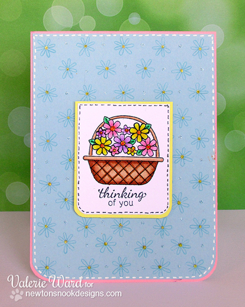 Thinking of you Card | Basket of Wishes stamp set ©2014 Newton's Nook Designs