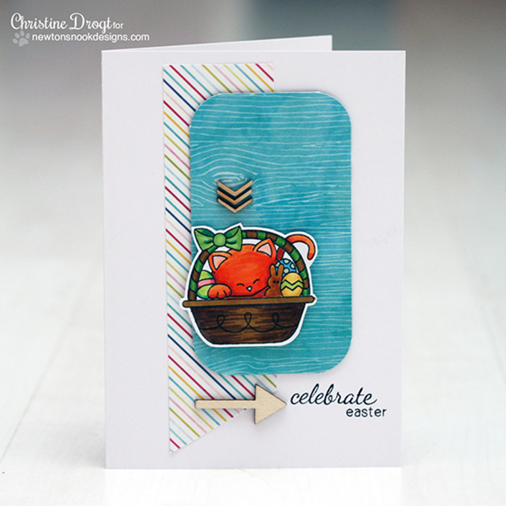 Easter Card | Basket of Wishes stamp set ©2014 Newton's Nook Designs