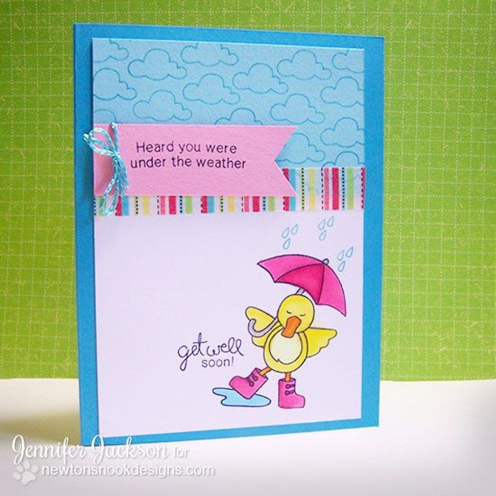 Get Well Duck with Umbrella Card | Spring Showers stamp set ©2014 Newton's Nook Designs.