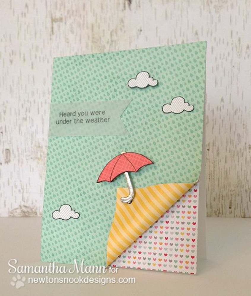 Umbrella Card | Spring Showers stamp set ©2014 Newton's Nook Designs.