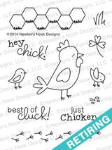 Chicken Scratches | 3x4 photopolymer Stamp Set | ©2014 Newton's Nook Designs