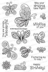 Beautiful Wings Stamp Set ©2016 Newton's Nook Designs