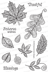Beautiful Leaves Stamp Set ©2016 Newton's Nook Designs