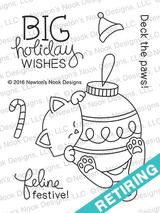 Ornamental Newton Stamp Set ©2016 Newton's Nook Designs