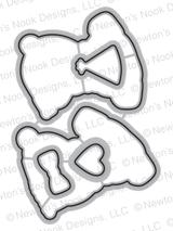 Pug Hugs Die Set ©2017 Newton's Nook Designs