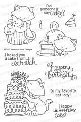 Newton Loves Cake Stamp Set ©2017 Newton's Nook Designs