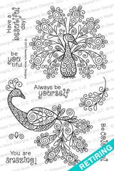 Beautiful Plumage Stamp Set ©2017 Newton's Nook Designs