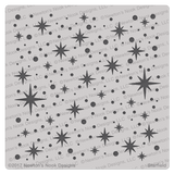 Starfield Stencil ©2017 Newton's Nook Designs