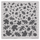 Falling Leaves Stencil ©2017 by Newton's Nook Designs