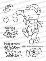 Newton's Candy Cane Stamp Set ©2017 Newton's Nook Designs