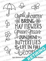 April Showers Stamp Set ©2018 Newton's Nook Designs