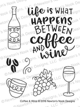 Coffee & Wine Stamp Set ©2018 Newton's Nook Designs