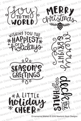 Ornamental Wishes Stamp Set ©2018 Newton's Nook Designs