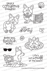 Corgi Beach Stamp Set ©2019 Newton's Nook Designs