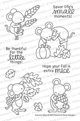 Autumn Mice Stamp Set ©2019 Newton's Nook Designs