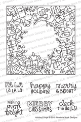 Holiday Fringe Stamp Set ©2019 Newton's Nook Designs