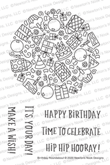 Birthday Roundabout Stamp Set ©2020 Newton's Nook Designs