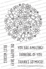 Floral Roundabout Stamp Set ©2020 Newton's Nook Designs