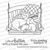 Porch Swing Friends Stamp Set ©2020 Newton's Nook Designs
