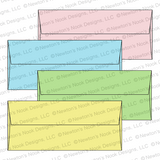 #10 Envelope Assortment - Pastels by Newton's Nook Designs