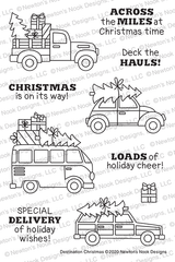 Destination Christmas Stamp Set ©2020 Newton's Nook Designs