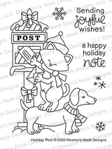 Holiday Post Stamp Set ©2020 Newton's Nook Designs