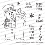 Snowman Greetings Stamp Set ©2020 Newton's Nook Designs