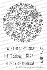 Snowfall Stamp Set ©2020 Newton's Nook Designs
