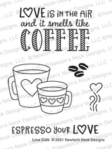 Love Café Stamp Set ©2021 Newton's Nook Designs