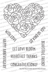Heartfelt Roses Stamp Set ©2021 Newton's Nook Designs