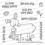 Hoppy Greetings Stamp Set ©2021 Newton's Nook Designs